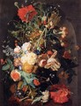 Vase of Flowers in a Niche - Jan Van Huysum