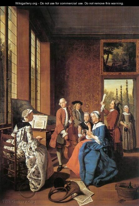 Concert in an Interior - Jan Jozef, the Younger Horemans