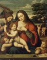 Virgin and the Child with Sts John the Baptist and John the Evangelist - Juan De (Vicente) Juanes (Masip)