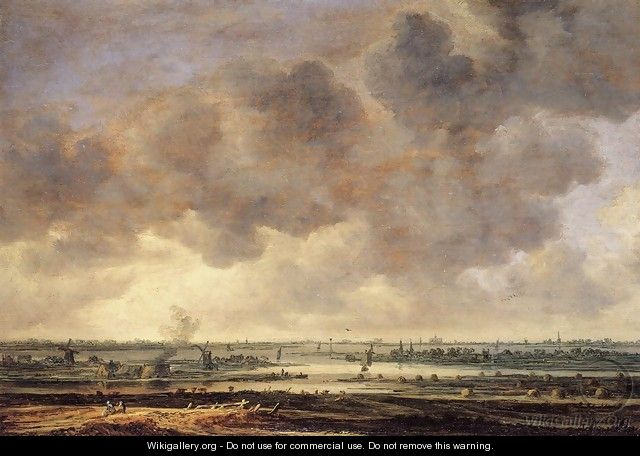 View of the Haarlemmermeer - Jan van Goyen