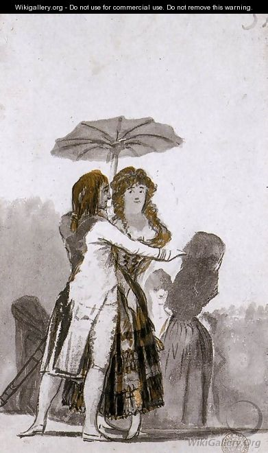 Couple with Parasol on the Paseo 2 - Francisco De Goya y Lucientes