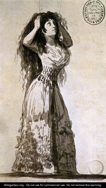 The Duchess of Alba Arranging Her Hair 2 - Francisco De Goya y Lucientes