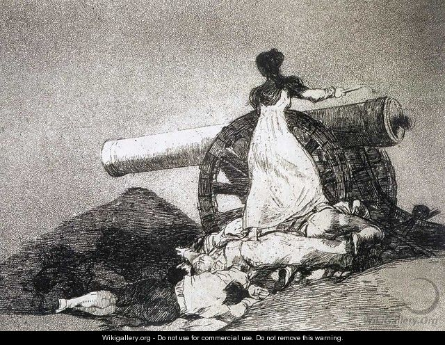 What courage - Francisco De Goya y Lucientes