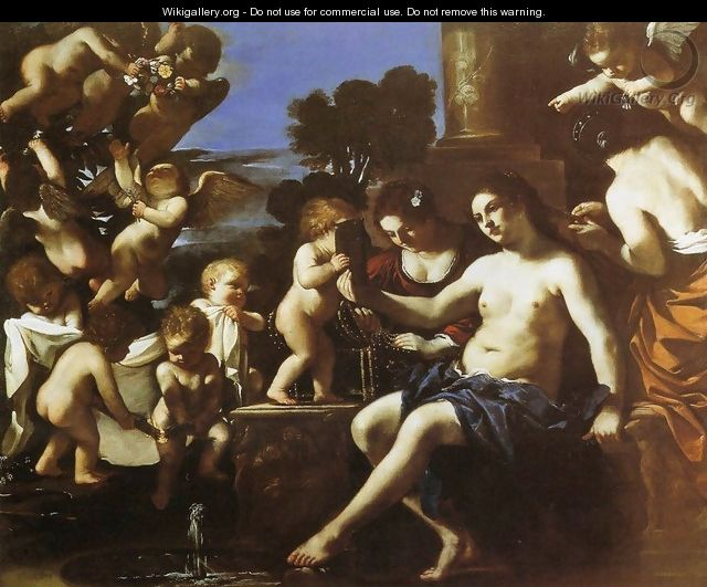 The Toilet of Venus - Guercino