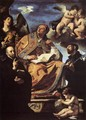 St Gregory the Great with Sts Ignatius and Francis Xavier - Guercino