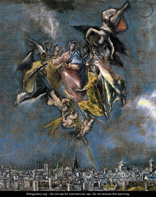 View and Plan of Toledo (detail) 3 - El Greco (Domenikos Theotokopoulos)