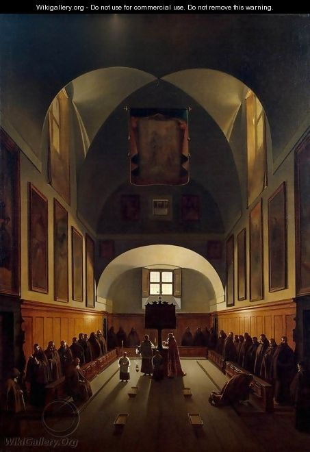 Interior of the Choir in the Capuchin Church on the Plazza Barberini in Rome - Francois-Marius Granet