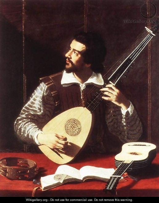 The Theorbo Player 2 - Antiveduto Gramatica