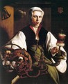 Portrait of a Lady Spinning - Maerten van Heemskerck