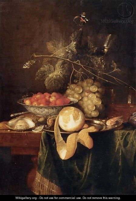Still-Life with a Peeled Lemon - Jan Davidsz. De Heem