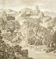 The First Battle between the Chinese Army and that of the Eleuths in 1759 - (after) Damascene, Jean (An Tai)