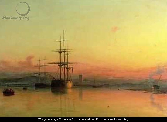 Dead Calm Sunset at the Bight of Exmouth - Francis Danby