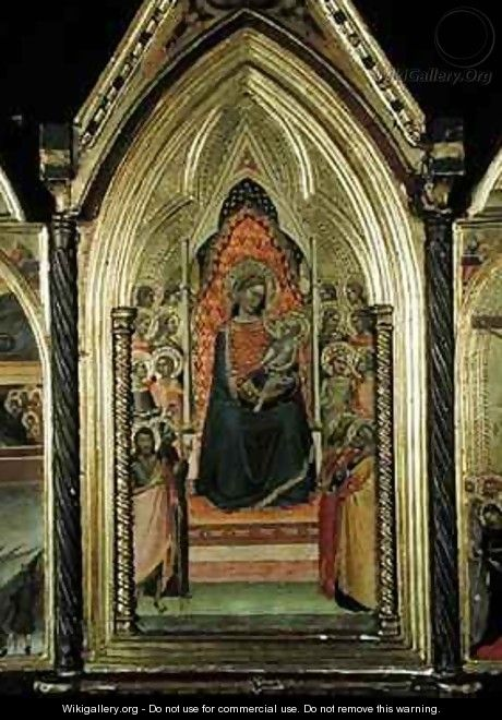 Triptych of the Virgin and Child Enthroned - Bernardo Daddi
