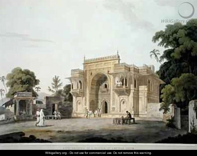 Gate Leading to a Musjed at Chunar Ghur - Thomas Daniell