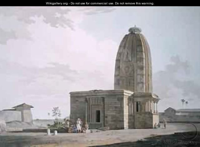 Hindoo Temple at Deo in Bahar - Thomas & William Daniell