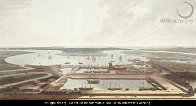 East India Docks - Thomas & William Daniell