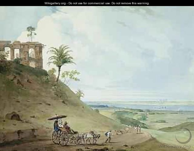 Ruins on Pir Pihar near Monghy Bihar - Thomas & William Daniell