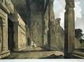 The Portico of an Excavated Temple on the Island of Salsette - Thomas & William Daniell
