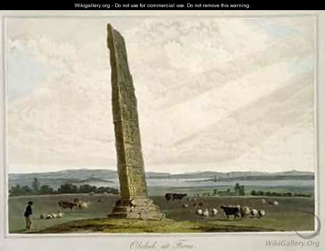 Obelisk at Forres - William Daniell, R. A.