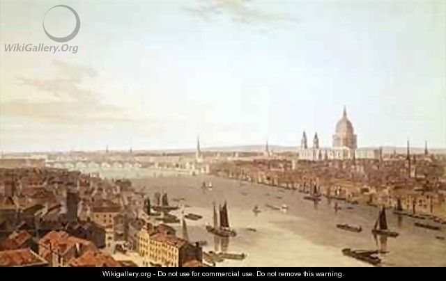 St Pauls Cathedral and the City - William Daniell, R. A.