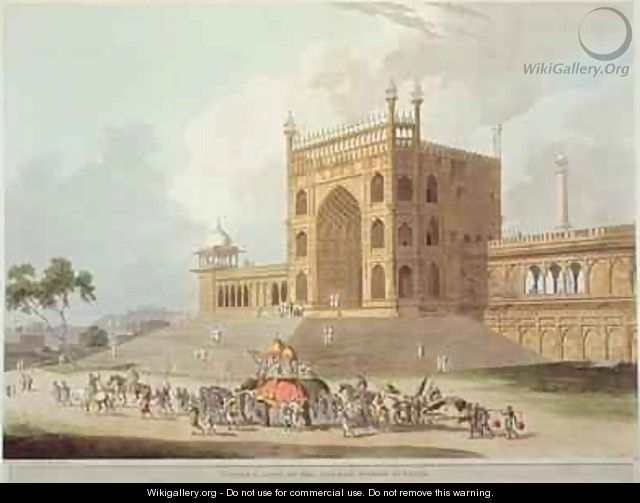 Eastern Gate of the Jummah Musjid at Delhi - Thomas Daniell