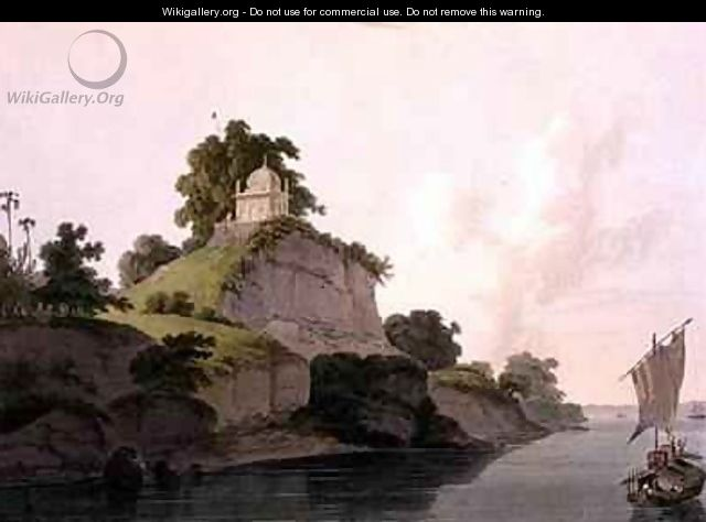 Hindoo Temple near Currah on the River Ganges - Thomas Daniell