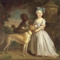 A Young Girl with a Dog and a Page - Bartholomew Dandridge