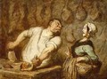 The Butcher Montmartre Market - Honoré Daumier