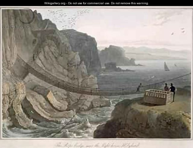 The Rope Bridge near the Lighthouse Holyhead - William Daniell, R. A.