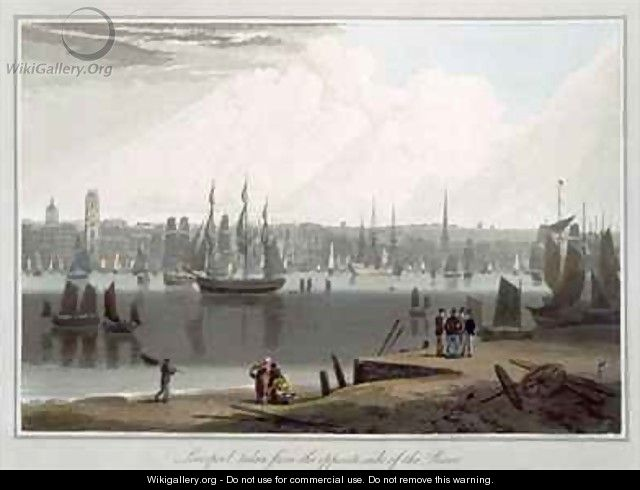 Liverpool taken from the opposite side of the river - William Daniell, R. A.