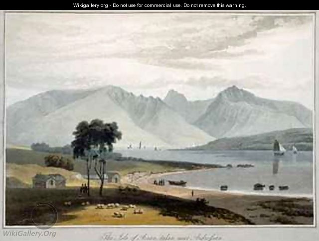 Isle of Arran seen from Ardrossan - William Daniell, R. A.
