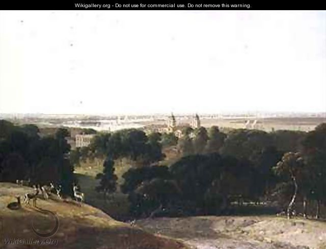 A View of London From Greenwich Park - William Daniell, R. A.
