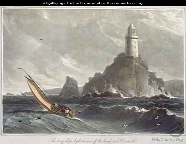 The longships lighthouse of Lands End Cornwall - William Daniell, R. A.