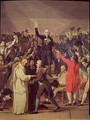 The Tennis Court Oath - (after) David, Jacques Louis