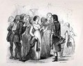 Madame de Stael questioning Napoleon Bonaparte about the best women - (after) David, Jules