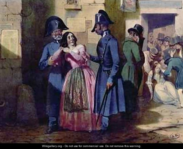 Arrest of a prostitute by the police - Jules David