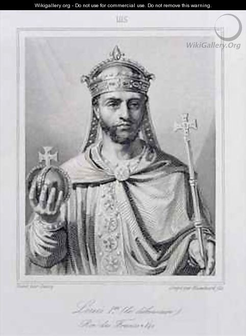 Louis I the Pious 778-840 Holy Roman Emperor - (after) Dassy, Jean Joseph