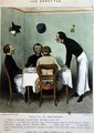 Restaurant scene - (after) Daumier, Honore
