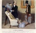 The Hydropathic Doctor caricature from La Caricature - (after) Daumier, Honore