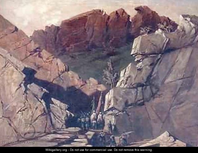 Expedition to the Portes der Fer Algeria - Adrien Dauzats