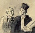 The Lawyer and his Client 2 - Honoré Daumier