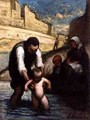 The First Swim - Honoré Daumier