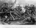 Struggle on a Bridge During the Retreat from Manassas - (after) Darley, Felix Octavius Carr