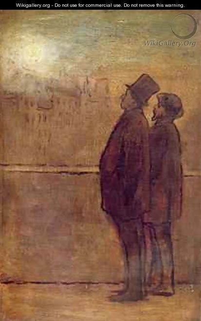 The Night Walkers - Honoré Daumier