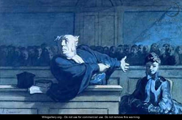 Scene at a tribunal - Honoré Daumier