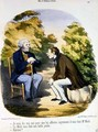 Two men discussing politics and the usefulness of the Comte de Mole - Honoré Daumier