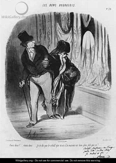 Series Les Bons Bourgeois Come along I am telling you the scarf you have at home is much more beautiful - Honoré Daumier