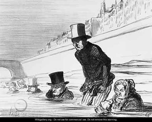 Series Actualites Parisians already taking their precautions to avoid being roasted by the comet - Honoré Daumier