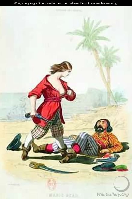 Mary Read from Histoire des Pirates - (after) Debelle, Alexandre