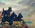 Scotties in a Landscape - Frederick Thomas Daws